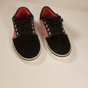 Vans skateboard shoes red/black women's size 9 1/2